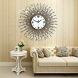 NEOTEND 3D Wall Clock 64pcs Diamonds Decorative Clock Diameter 25.6'