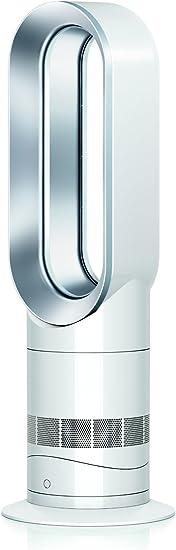 Amazon Com Dyson 61874 01 Hot Cool Jet Focus Am09 Fan Heater White Silver Home Kitchen
