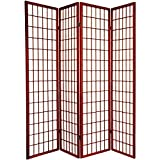 "Product review for Legacy Decor 4-Panel Shoji Screen Room Divider, Cherry Finish 71""h X 70""w"