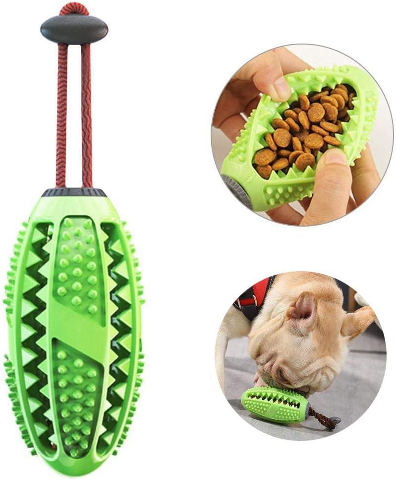 AIDIYA Cepillo de Dientes para Perros de, Cuidado Dental para Cachorros, Cepillo para Masticar, Juguetes eficaces para Limpieza de Dientes de Perro (Verde)