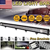 44inch 1000W LED Light Bar Flood Spot Combo Driving Lamp Offroad Driving 4WD ATV Boat Car Truck - Triple Row