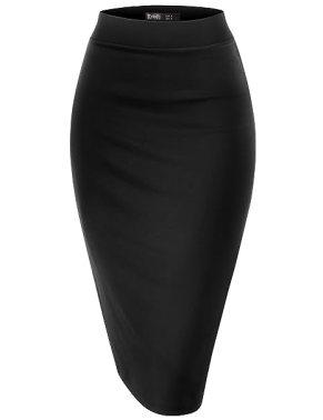 Image result for black pencil skirt
