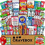 CraveBox Care Package (50 Count) Snacks Cookies Bars Chips Candy Ultimate Variety Gift Box Pack Assortment Basket Bundle Mixed Bulk Sampler Treats College Students Office Fall Semester Back to School