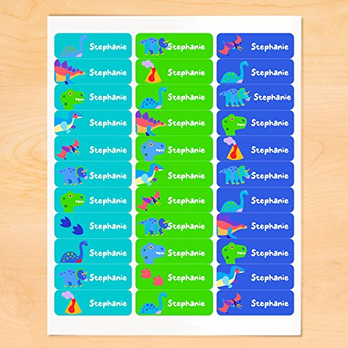 Dinosaur Personalized Rectangle Waterproof Labels by Olive Kids
