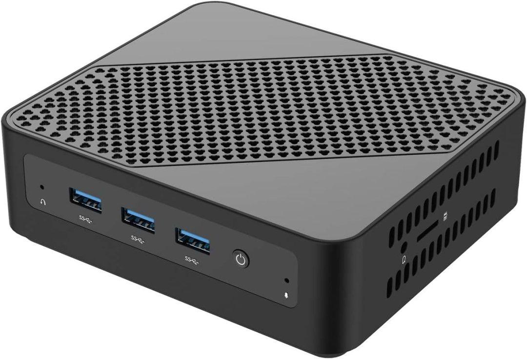 Mini PC, processeur Intel Core i5-5257U Mini Ordinateur de Bureau 8 Go DDR3L / 128 Go eMMC avec Windows 10 Pro, Connexion HDMI et Mini DP, WiFi Double Bande, BT 4.2, 3 * USB 3.0, 1 * USB C …