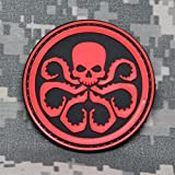 NEO Tactical Gear Marvel Comics Captain America Hydra Logo PVC Morale Patch - Rubber Morale Patch, Hook Backed (Black and Red)