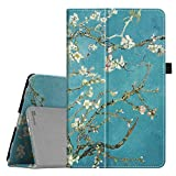 Fintie Folio Case for NuVision Solo 10 Draw TM101W610L, Slim Fit Premium PU Leather Stand Cover with Stylus Holder for NuVision Solo 10 Draw TM101W610L 10.1-Inch Windows Tablet, Blossom