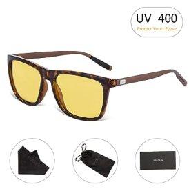 HD Night Vision Glasses RAYSUN Rain Day Safety Polarized Driving Sunglasses