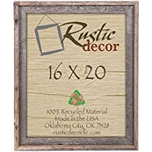 16x20 Reclaimed Barn Wood Signature Wall Frame
