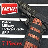 Pistol & Gun Grip Tape - Tactical Police Military Grade for Guns Knives Tools Phones Cameras Anything! 7 Pieces - 8.5' x 2' Massive stick & grip. Best Non Slip Solution. Red Cat Brand