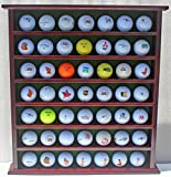 49-Golf Ball Display Case Cabinet Rack, No Door, Mahogany Finish GB20-MAH