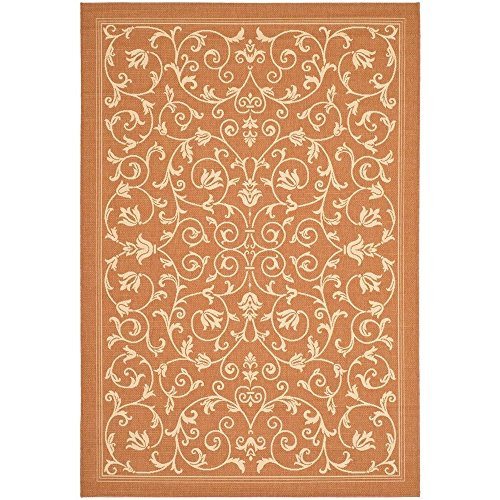 Safavieh Courtyard Collection CY2098-3202 Terracotta and Natural Indoor/ Outdoor Area Rug (6'7
