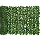 DearHouse Artificial Ivy Privacy Fence Screen, 118x39.4in Artificial Hedges Fence and Faux Ivy Vine Leaf Decoration for Outdoor Decor, Garden