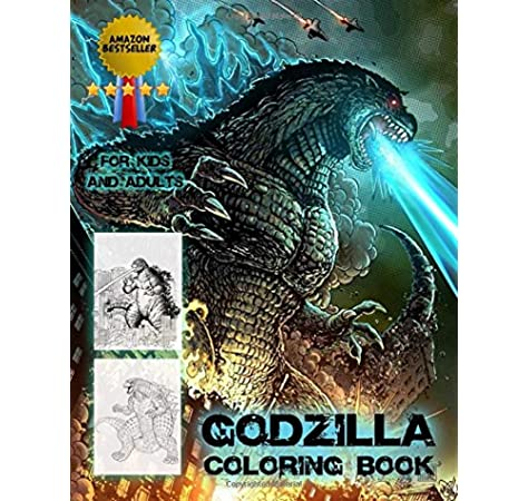 Amazon Com Godzilla Coloring Book Amazon Bestseller Coloring Book For Kids And Adults 9781678607685 Anderton Mark Books