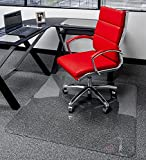 40' x 60' - Premium Glass Chair Mats | No Crack, Dent or Scratch | For Carpet or Hard Floor | Exclusive Beveled Edges