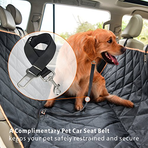 Dog Car Seat Cover F Color Waterproof Pet Hammock For SUV Truck Automotive Backseat Bench Protector With A