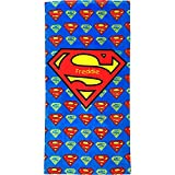 Personalised Superman Large Printed Cotton Beach Towel