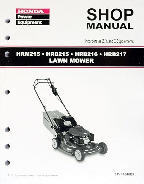 Honda Hrb215 Hrb216 Hrb217 Hrm215 Lawn Mower Service Repair Manual