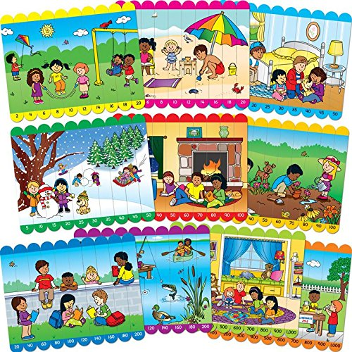 Picture Sticks Puzzles - Skip Counting