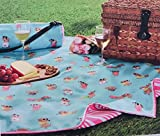 Cynthia Rowley Dachshunds in Sweatshirts & Glasses Picnic Blanket 50 x 60 reversible water resistant in Rolled Cloth Shoulder Bag