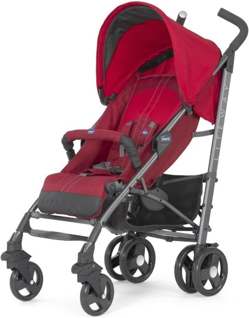 Chicco Lite Way 2 Top Bb Pram red