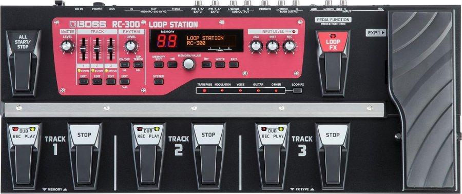 BOSS Loop Station Guitar Pedal, (RC-300)