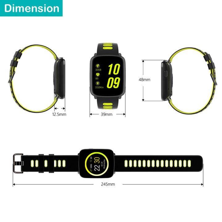 Abmessungen - Yamay Smartwatch SW018