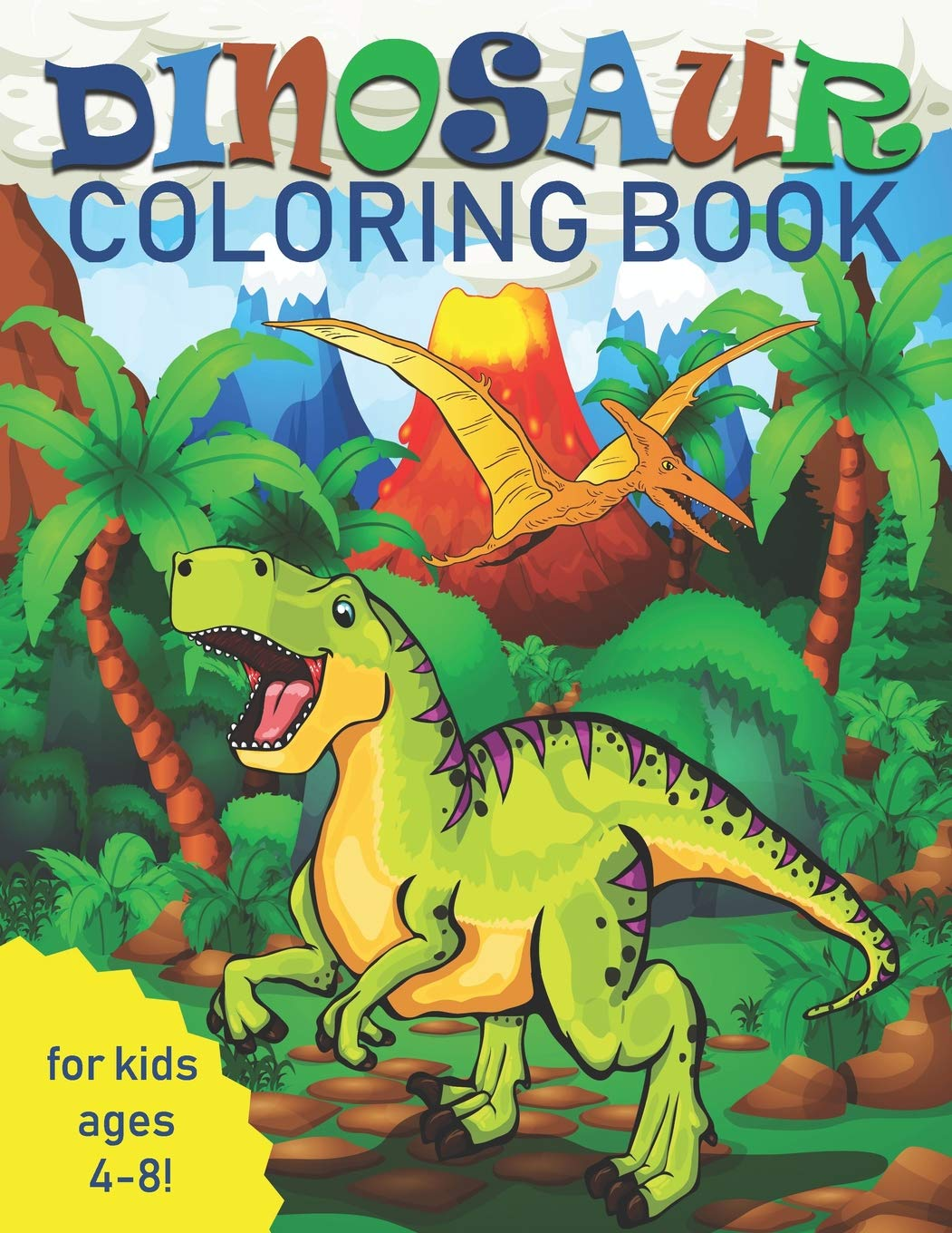 Dinosaur Coloring Book For Kids Great Gift For Boys Girls Ages 4 8 Coloring Two Hoots 9781090454676 Amazon Com Books