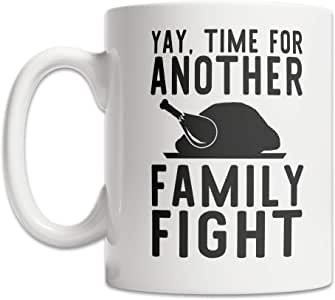DKISEE Funny Family Fight Coffee Mug Dysfunctional Family