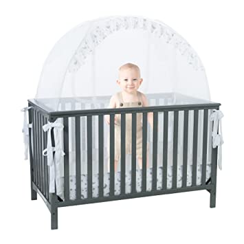 Baby Crib Safety Pop Up Tent Premium Baby Bed Canopy Netting Cover See Through