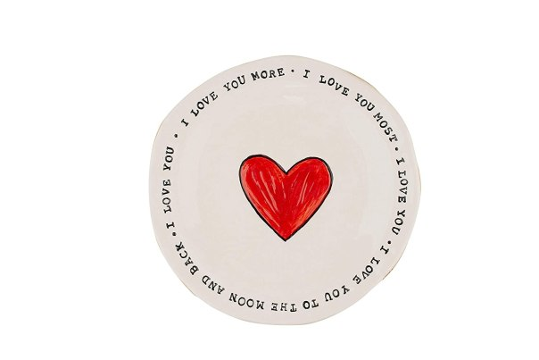 valentine's day ideas, ceramic heart plate