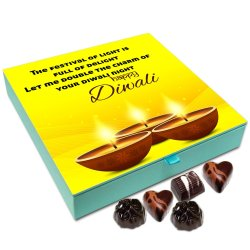 Chocholik Diwali Gift Box – The Deepavali Festival is Full of Delight Chocolate Box – 9pc