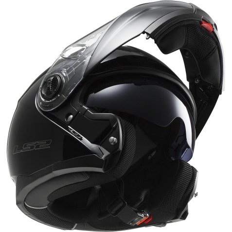 LS2 Helmets Strobe Solid Modular Motorcycle Helmet with Sunshield