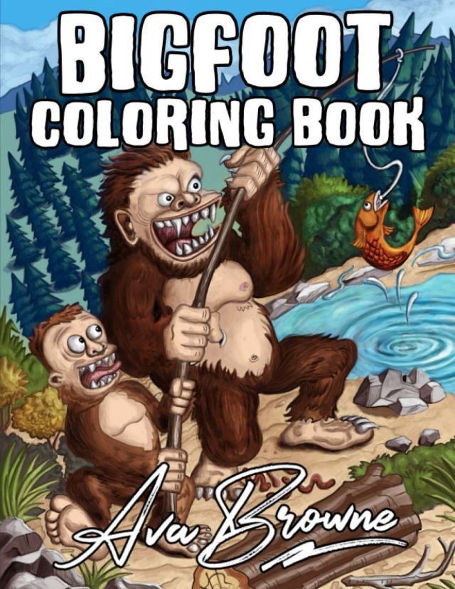 Bigfoot Coloring Book: A Coloring Book with Bigfoot and Family