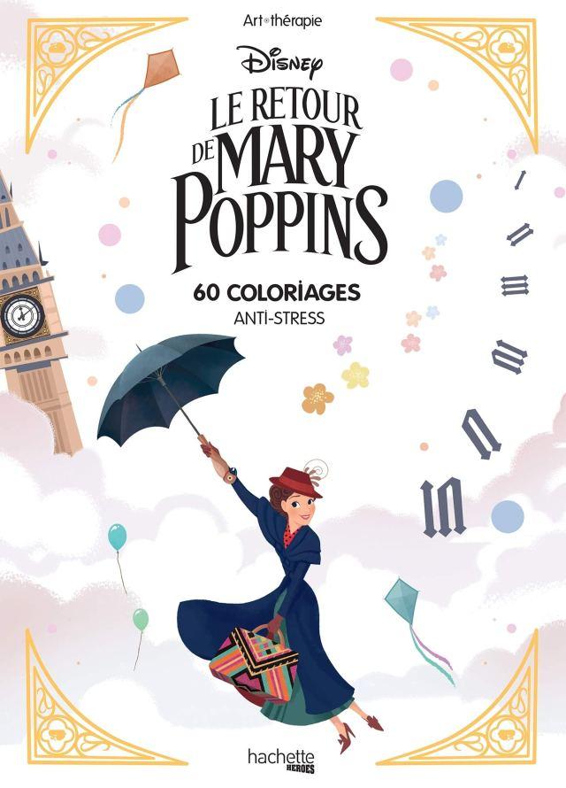 Bloc coloriages Mary Poppins: 30 coloriages anti-stress: Amazon.de