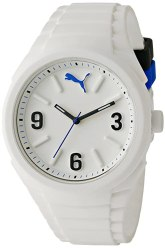 PUMA Unisex PU103592002 Gummy Analog Display Analog Quartz White Watch