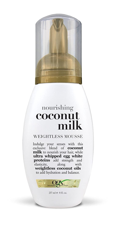 Amazon Com Ogx Weightless Mousse Nourishing Coconut Milk 8oz Hair And Scalp Treatments Beauty