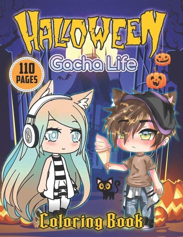 Gacha Life Halloween Coloring Book: Fantastic Coloring Book For
