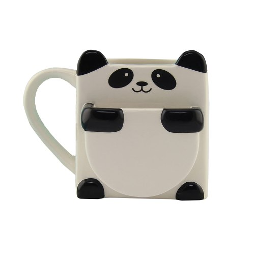 Panda Hug Mug with Biscuit Holder