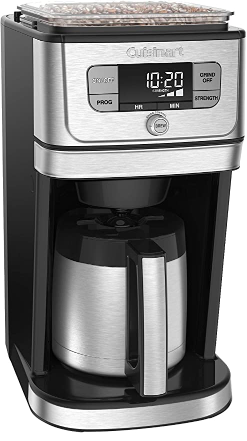 Cuisinart DGB-850 Fully Automatic Burr Grind & Brew Thermal coffeemaker, 10 Cup, Black