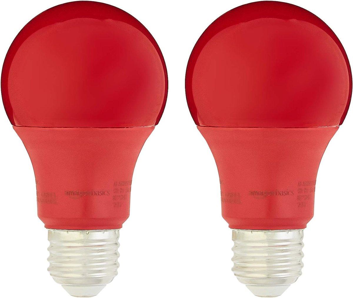 A19 LED Light Bulb   Red