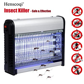 Electric Bug Light Zapper - Mosquito & Fly Killer - Indoor Flying Insect Control - 100% Satisfaction Guarantee by Henscoqi