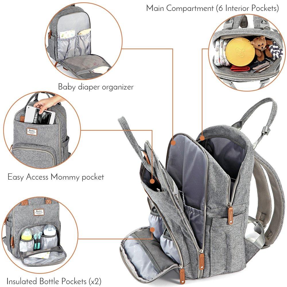 mochila pañalera recién nacidos