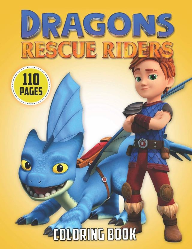 Dragons Rescue Riders Coloring Book: Coloring Books For Kids With