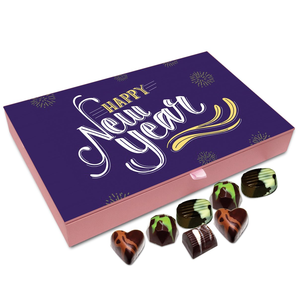 Chocholik New Year Chocolate Box – Happy New Year to All My Sweet Friends Chocolate Box – 12pc