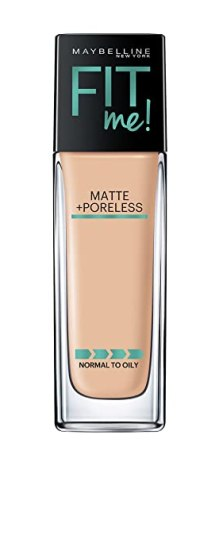 Maybelline New York Fit Me Matte Plus Poreless Foundation Makeup, 128 Warm Nude, 1 Fluid Ounce
