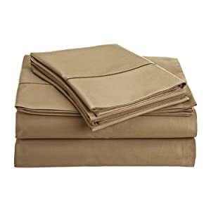 Chateau Home Collection 800-Thread-Count Egyptian Cotton Deep Pocket Sateen Weave Sheet Set (QUEEN, Sea Foam)