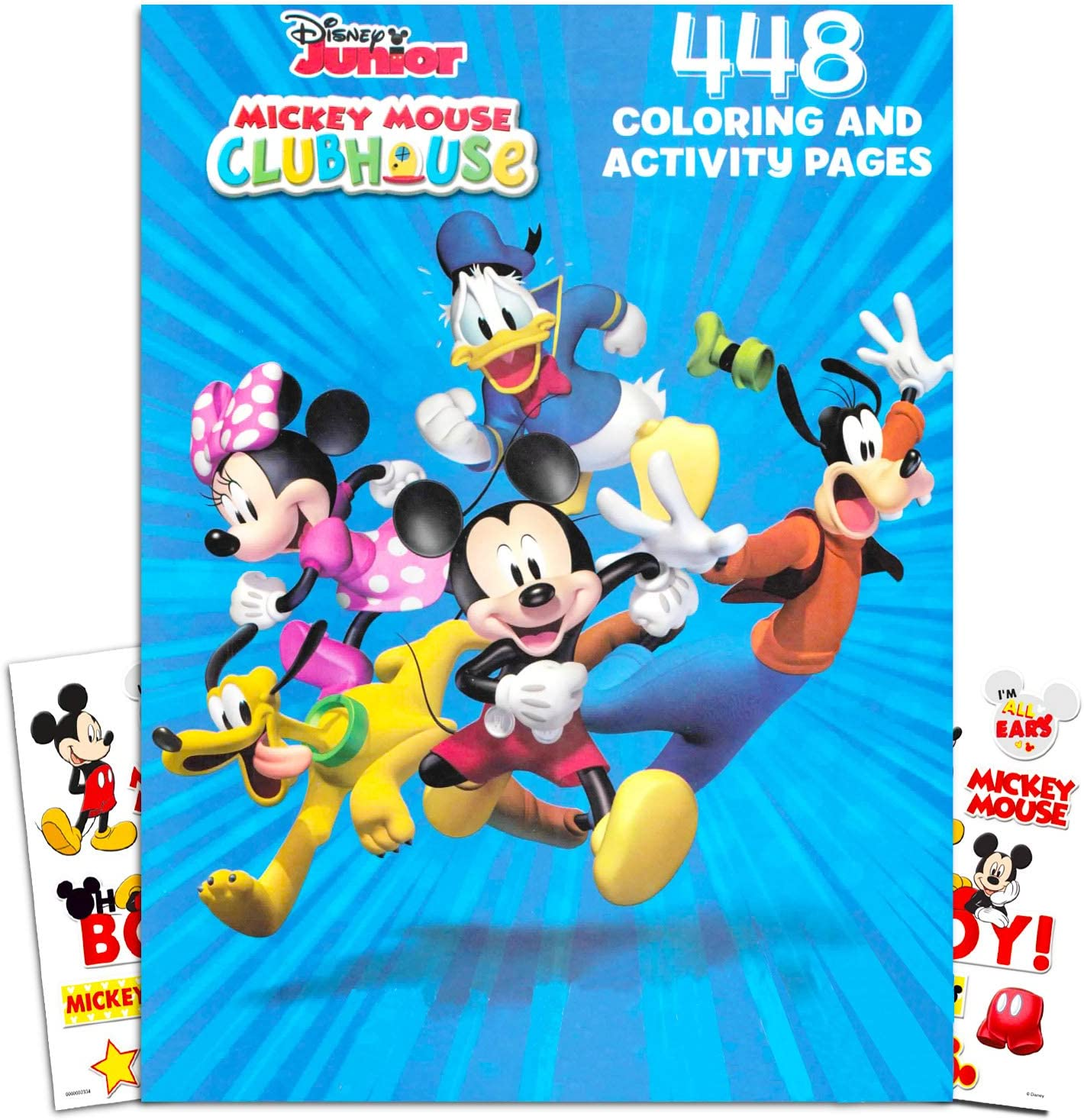 Amazon Com Disney Mickey Mouse Clubhouse Gigantic Coloring Book Set With Stickers Puzzles And Activities 400 Coloring Pages Toys Games