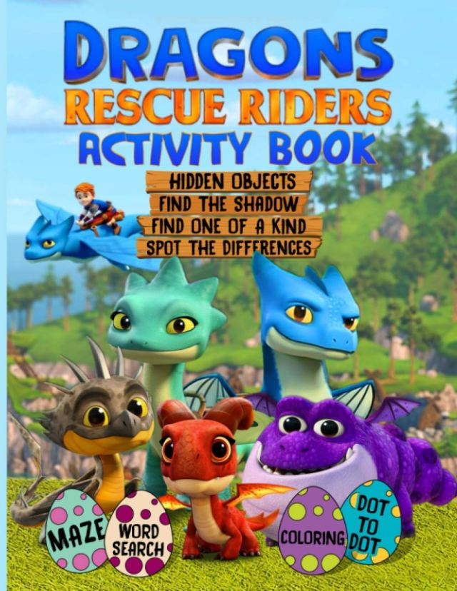 Dragons Rescue Riders Activity Book: Special Adult, Kid Hidden