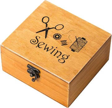 Rosenice Wooden Sewing Box